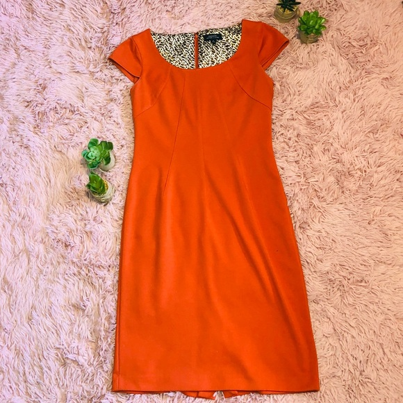 Tahari Dresses & Skirts - Tahari Orange Cap Sleeve Dress